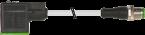 M12 male 0° A-cod. / MSUD valve plug A-18mm
