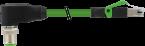 M12 male 90° 180° / RJ45 0° shielded Ethernet