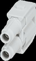 Female module, 2-pole, axial screw t.