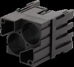 Shielded male module, 2-pole