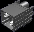 Power male module, 2-pole, crimp t.