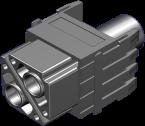 Power female module, 2-pole, crimp t.