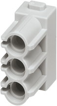 Pneumatic module - female & male, 3-pole