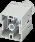 PE-Male module, 1-pole, axial screw t.