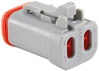 I/O connector with end cap and wedgelock