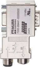 M12/D-SUB PROFIBUS ADAPTER MINI 90°