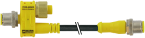 T-coupler M12 male / M12 male+cable+M12 female