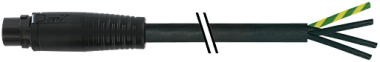 MQ15-X-Power male 0° with cable