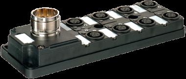 MVP12-V, 8XM12, 4POLE, M23 12POL. CON.
