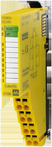 CUBE20S SAFETY INPUT MODULE F DI4/2