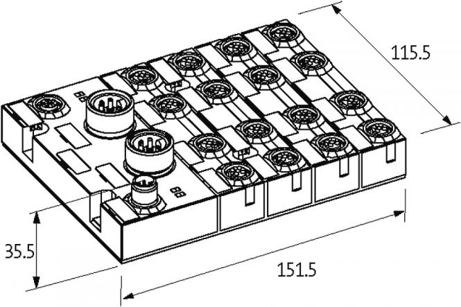 cube67 dio16 do16 e 16xm12  1 6  2a  at murrelektronik online